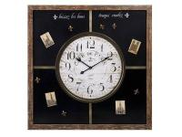 Our Paris Magnetic Chalkboard Clock offers a charming
