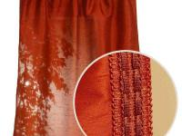 Polysilk Rust Back Tab Curtain offers a fashionable,