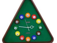 The uniquely designed Pool Table Wall Clock is a