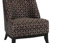 With a sleek slipper chair shape and multiple fabric