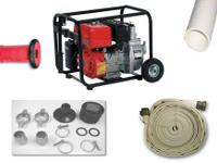 Package comes complete with the 5.5 HP gas fire pump,