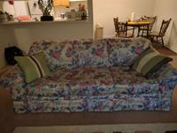 Beautiful antique sofa set in cream and pink flowers-
