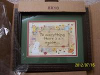 "Home & Garden Party framed art, ""To Everything There is"