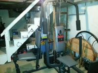 Weider home gym. $100. New cables