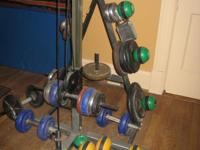 Roomful of used gym equipment for sale-- Cable