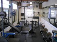 "Complete home gym for sale w/ ""The Hammer"" (new $400) ,"