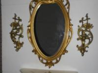 Home interior mirror, shelf & sconces. $60.00 Also have