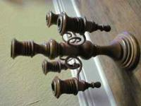 wooden candelabra call  Location: milton