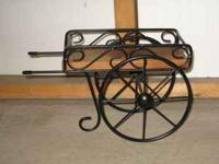 Home Interiors Decorative Cart. Black wrought Iron