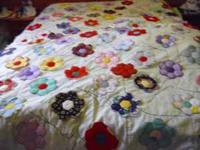 A BEAUTIFUL HAND MADE QUILT[ HAND AND MACHINE MADE