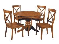 5-Piece Dining Set includes Home Styles Round Pedestal