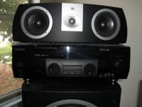 home theater stereo, kenwood digital reciever, jbl 12""