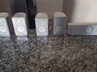 Five-piece (5) surround sound speaker system. Amplifier