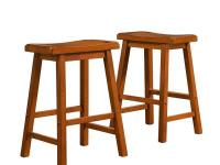 Oak Saddleback Stools will fit seamlessly into any