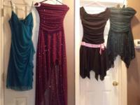Dresses $15-20  blue spaghetti strap- small purple with