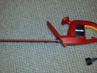 "17"" Homelite hedge trimmer that works well. Please call"