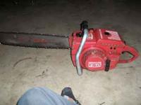 nice runing saw cuts nice give me a call at  steve