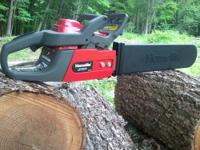 "Used HOMELITE CHAIN SAW 20"" Bar 46cc Running time ~"
