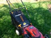 Homelite 20 in. Electric lawn mower, less than 1year