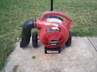 Homelite push blower, just serviced, runs great, 75.00