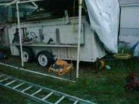 Homemade dump trailer. Needs new wood on sides.I have