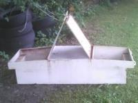 For sale is a homemade durable truck tool box it came