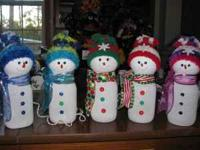 Homemade lighted snowman $20.00 makes a very cute and