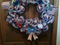 Patriotic wreath I made    Pick up in Watertown