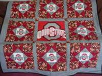 Homemade OSU quilt.  Comes from a smoke free home.