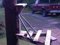 I make all my tree stands with 4x4s and 2x4s the pipe
