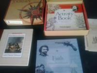 Books, charts, globe, insect kit, science test
