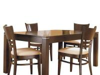 Casual and comfortable, this dining set provides both