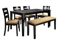 Enjoy in comfort this contemporary 6-Piece Dining Set