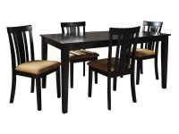 Enjoy in comfort this contemporary 5-Piece Dining Set