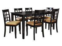 Enjoy in comfort this contemporary 7-Piece Dining Set