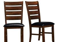 These dark oak finish dining chairs showcase solid,