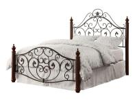 This contemporary metal poster bed adds an attractive