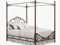 This bronze canopy bed is the perfect addition to any