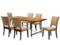 The Ryder dining set combines various textures for a