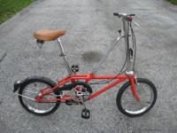 hon folding bike, orange with minor chips scratches. 3