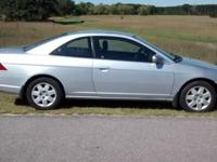 Honda 2001 Civic 2 door coupe, 5 speed manual, good