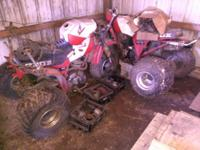 Two Honda 200x three wheelers and all parts, one was