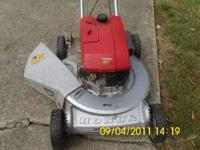 This mower has an aluminum housing,bearings on the