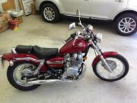 2012 Honda CMX250C Rebel with 1590 miles. Candy Apple