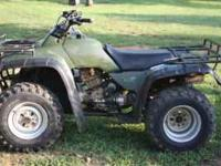 1996 Honda 300 Fourtrax 4x4, Color: Green Good Dirt