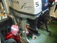 . You are checking out a very clean Honda 4 stroke 5hp