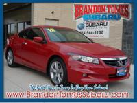 This red 2012 Honda Accord EX-L V6 has everything you