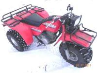 THIS PHOTO WAS TAKEN THIS WINTER BIG RED ATC 250 ES