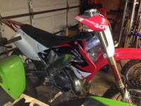 2001 honda cr250. Clean title in hand. Current