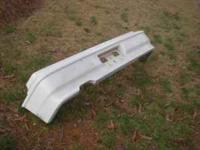 88-91 Honda Civic CRX rear bumper painted white. In